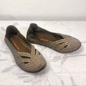 Original Shiny-Beige Bernie Mev. Loafers